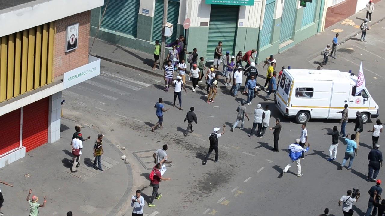 Madagascar.-Heridos-graves-y-al-menos-un-fallecido-por-enfrentamientos-entre-policía-y-manifestantes